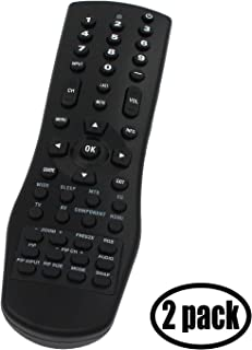 2-Pack Replacement for Vizio VR1 TV Remote Control - Works with Vizio VA26LHDTV10T, VW32L, VX37L, VX32L, VO420E, VO370M, VW26L, VX32L HDTV10A, VF550M, P50, GV42L, VX37L HDTV10A, VW32LHDTV40A TVs