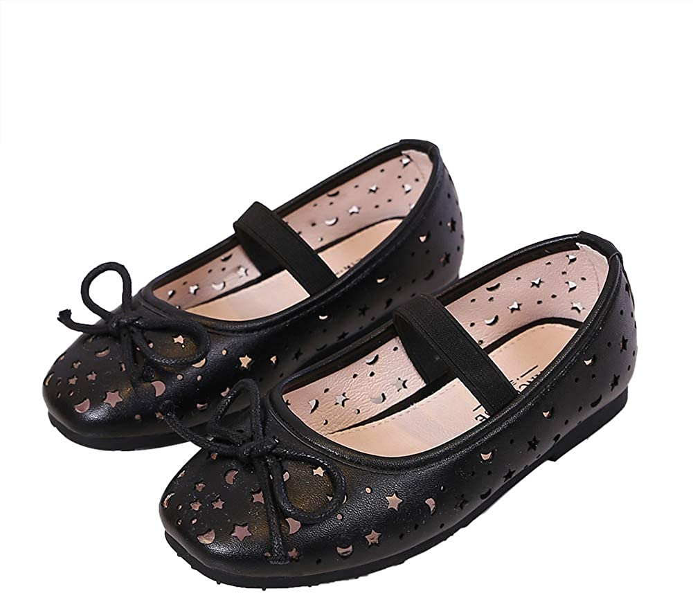 N/P Joeupin Girls Mary Jane Flats Slip On School Party Dress Ballerina Shoes (Toddler/Little Kids)
