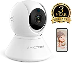 Baby Monitor - WiFi Baby Camera 2.4Ghz(not 5G) with Two Way Audio Surveillance Camera Pan Tilt Zoom Night Vision Motion Detect for Indoor Home Shop Office,Support iOS/Android/Windows