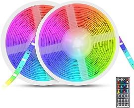 AUELEK taśma LED, 10 m, RGB LED, wielokolorowa, 5050 RGB, 300 diod LED, IP65, wodoszczelna, elastyczna, elastyczna, nadają...
