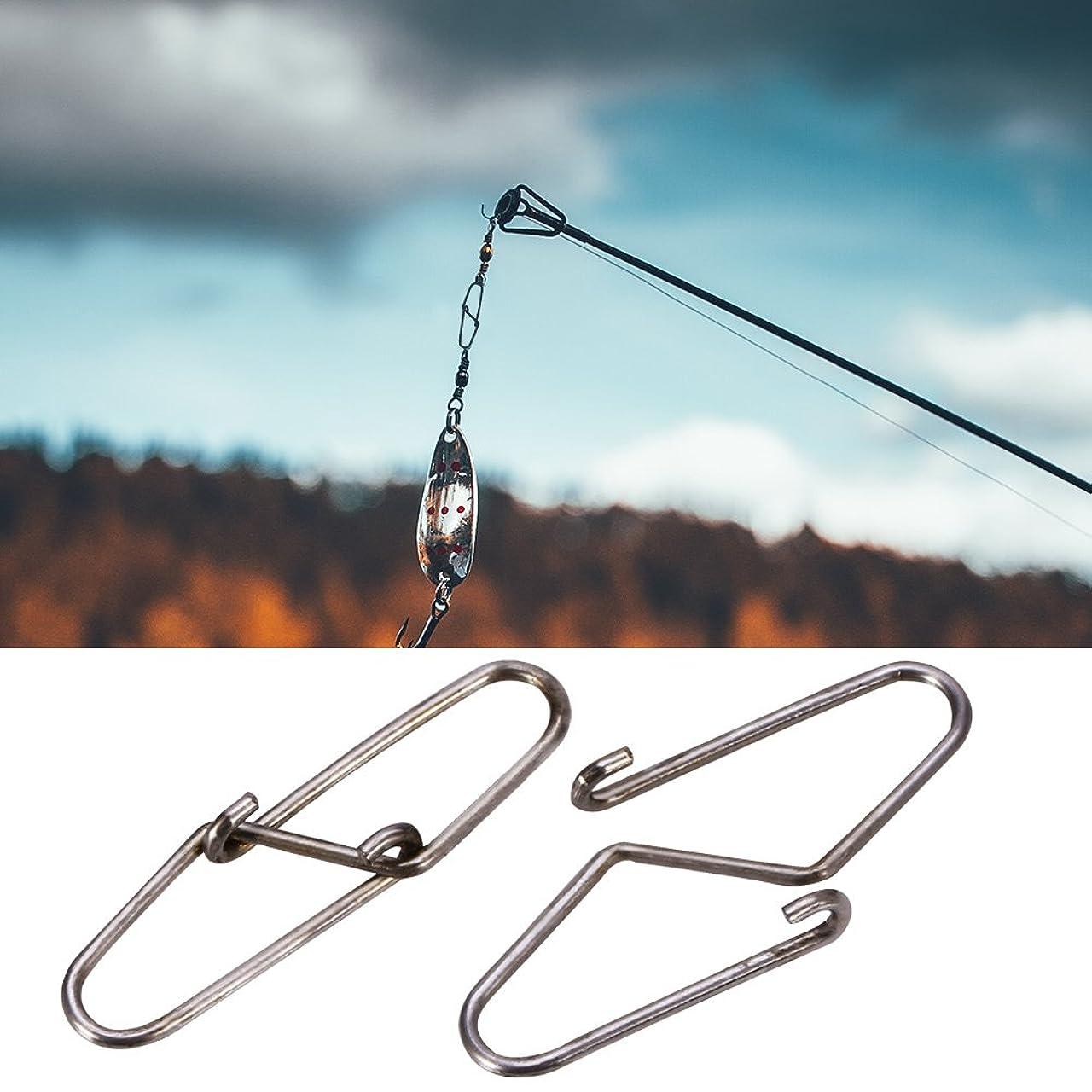 ふさわしい蘇生する便利100ピースステンレス鋼釣りボールベアリングスイベルデュオロックスナップ高強度クリップ釣りコネクタスイベルロックスナップ(#2)