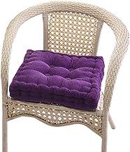 YiyiLai Corduroy Soft Tatami Cushion Seat Stool Pad Home Office Decoration Pillow Square Purple 45x45cm