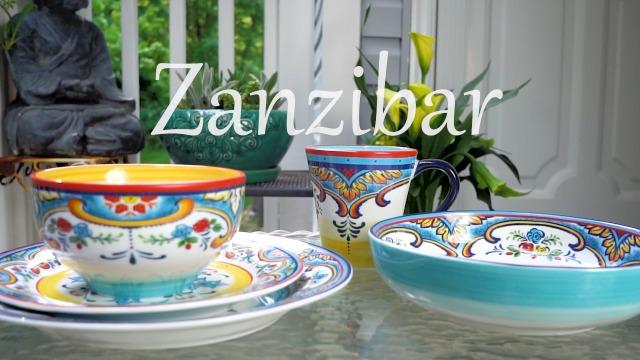Euro Ceramica Zanzibar Collection 16 Piece Dinnerware Set Kitchen and Dining, Service for 4, Spanish Floral Design…