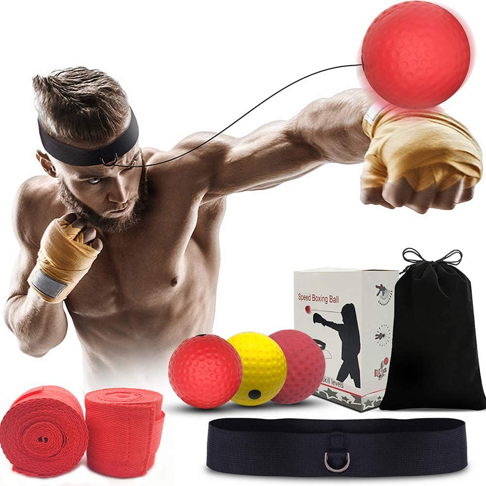 Boxing Punch Exercise Fight Ball With Head Band Reflex SpeedReflectionTraining/&