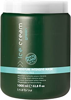 Inebrya Ice Cream Moisture Intensive Mask Paraben Free with Natural Phyto Plant 33.8 Oz