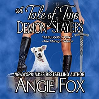 A Tale of Two Demon Slayers     Biker Witches Mystery, Book 3              By:                                                                                                                                 Angie Fox                               Narrated by:                                                                                                                                 Tavia Gilbert                      Length: 8 hrs and 7 mins     179 ratings     Overall 4.6