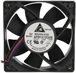 Delta Electronics AFB1212GHE-CF00 120x120x 38mm Cooling Fan, 240.96 CFM, 5200 RPM, 62 dBA, 2.45A (max 3.24A), 27.48 air pre., 3+4-pin power & TAC connector