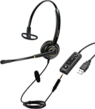 $37 » Sponsored Ad - USB Headset/3.5mm Cell Phone Headset with Mic Noise Cancelling, Computer Headphone PC Headset with Voice Re...