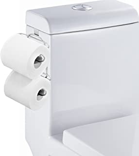 TQVAI Over The Tank Toilet Paper Roll Holder for Bathroom Tissue, Chrome Finish