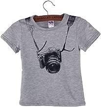 2018 Summer Hot Sale Children T Shirt Kids Boy O Neck Camera Short Sleeve Tops Tees Age 1-6Y
