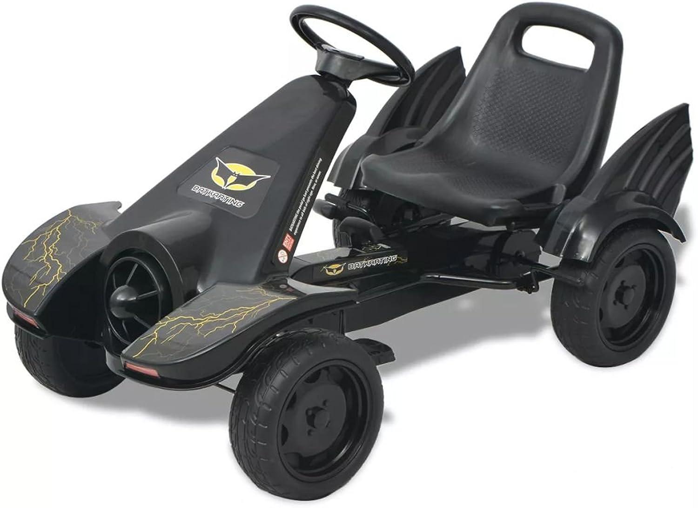 Arichtop Pedal Go-Kart mit verstellbarem Sitz Schwarz