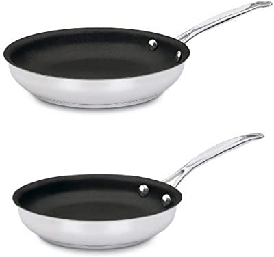 Cuisinart 10-Inch Open Skillet and 722-20NS 8-Inch Open Skillet Bundle
