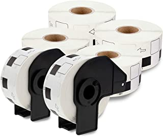 enKo [6 Rolls / 6000 Labels] Compatible for Brother DK1221 (10/11''x 10/11'') with 2 Cartridge Frame