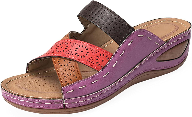 Wedge Sandals for Women, Casual Summer Slides Sandal Comfy Sanda