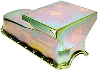 Assault Racing Products A7480Z Small Block Chevy Zinc Drag Style Oil Pan 6qt 2-Piece Rear Main Driver Side SBC