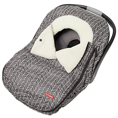 Skip Hop Winter Car Seat Cover: Ultra Plush Fleece, Grey Feather
