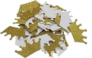 Mybbshower Glitter Gold Tiara Stickers Princess Birthday Party Envelope Sealing Stickers Crown Nursery1 4/5 Inch Pack of 100