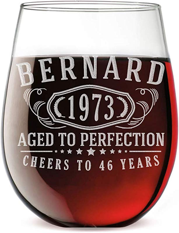 Personalized Etched 17oz Stemless Wine Glass For Birthday Gifts