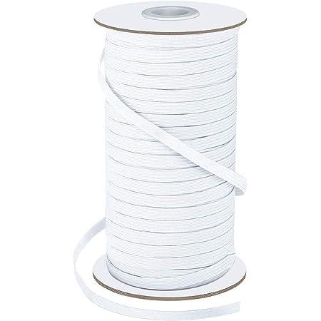 Mask Elastic for Sewing Crafts DIY Bedspread Elastic Rope Cuff 1//4 Wide 100Yards Elastic Bands for Sewing Heavy Stretch Knit Elastic Band,Elastic Cord Black