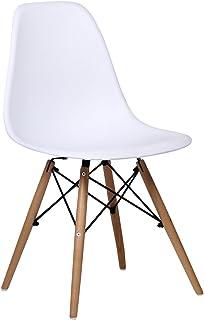 SuperStudio Wooden - Pack de 2 sillas , color blanco, talla 81.5 x 47 x 53.5 cm