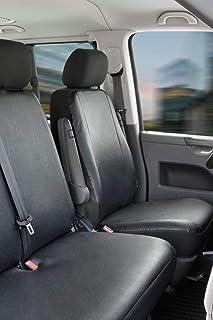 Schwarz-rot Effekt 3D Sitzbezüge für SEAT LEON Autositzbezug VORNE