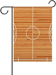 Mesllings Basketball Court Decorative Garden Flag Banner Polyester Welcome Seasonal Indoor Outdoor 12