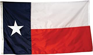 America's Flag, Texas State Flag, Nylon, 3'x5', 100% Made in USA, Appliqued Stars and Sewn Components