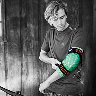 KOOL'N FX Hot & Cold Therapy, Reusable Elbow Gel Pack with Adjustable Straps - Great for Sports Injuries, Post Surgery, Sprained Elbows, Arthritis, Joint Pain Relief & More (Medium/Large)