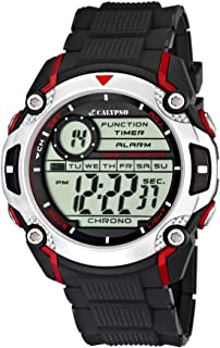 Calypso Watches - K5577/4 - Montre Garçons - Quartz - Digitale - Alarme/Chronomètre/Eclairage - Bracelet Caoutchouc Noir