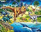 Larsen NB3 Dinosaurios del período Cretácico, edición en Neutral, Puzzle de Marco con 57 Piezas