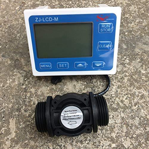 Wasser kraftstoffdurchflusssensor meterzähler anzeige schalter gauge durchflussmesser + digital lcd display controller palette 0,1-9999 l g1