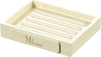 センコー M+home ラウレア ソープディッシュ アイボリー 約W10.5×D8.3×H1.9cm 86231