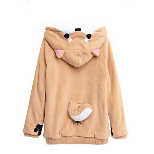 53bbc3fcfae9 BAIMORE Home Wear Clothes Hoodie Sweatshirt Cute Coral Celvet Long Sleeve  with 3D Shiba Inu Dog