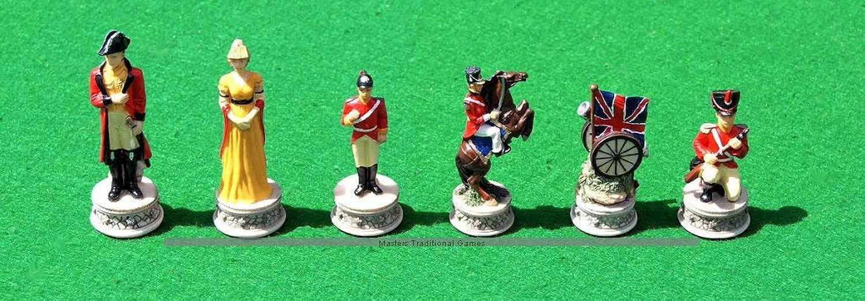 Italfama Waterloo Chess Pieces - Resin, He-Painted