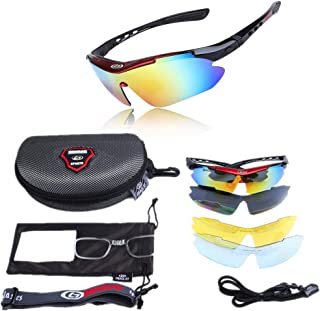 Mens Sunglasses Sports Cycling Sunglasses Color Changing Polarized Sunglasses UV Protection for Cycling Climbing Sports Driving with Bag