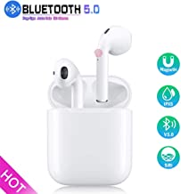 Wireless Earbuds, Bluetooth 5.0 Headphones in-Ear Built-in HD Dual Mic IPX5 Waterproof 3D Stereo Sports Headset,with【Touch Control 】 and Portable Charging Case for iPhone/Samsung/Apple/Airpods