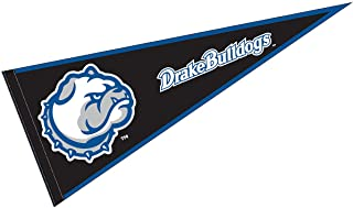 College Flags and Banners Co. Drake University Pennant Full Size Felt
