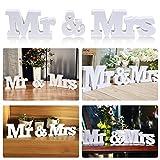 Yaheetech Mr Mrs Buchstaben Hochzeitsgeschenk Tischdeko für Hochzeit Schriftzug Weiß