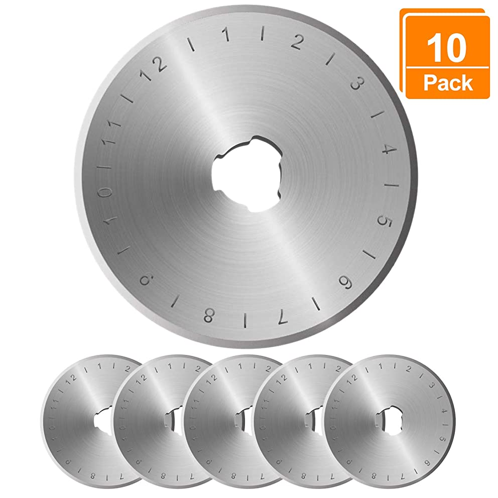 Rotary Cutter Blades 45mm - 7 Pack,Compatible with All 45mm Rotary Cutters Including Fiskars & Olfa,Sharp and Durable t25911454090