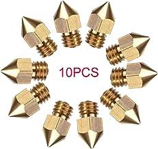CCTREE 10pcs MK8 Extruder Nozzle for 3D Printer Makerbot Creality CR-10/CR-10 V2/10S/S4/S5, Ender 3/Ender 3 Pro/Ender 5 5 ...