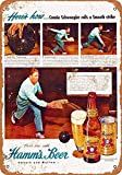 KODY HYDE Metall Poster - Hamm's Beer Bowling - Vintage