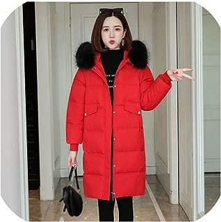 Winter Parkas & Jacket 2019 Women's Jackets Down Jacket Hooded Fur Collar Thick Long Winter Coat Snow Parkas