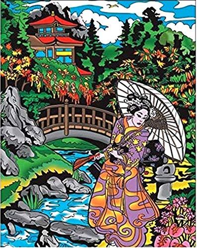 Terciopelo colorvelvet de 47x35 cm para colorear con caja de rotuladores - Gheisha 2