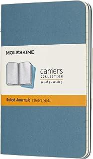 モレスキン ノート カイエ ジャーナル3冊セット 横罫 ポケットサイズ ブリスクブルー CH011B44