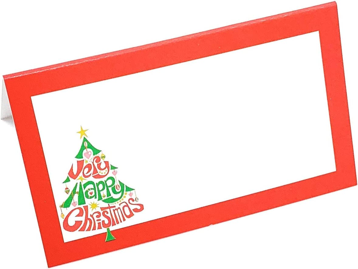 OFFicial Denver Mall store Stationery Creations Merry Christmas Tree Fold Red Place - Cards