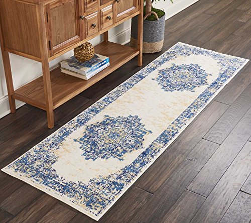 Marca de Amazon - Movian Mesta, alfombra rectangular, 228,6 de largo x 68,6 cm de ancho (diseño geométrico)