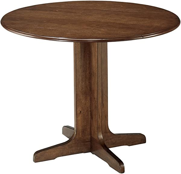 Ashley Furniture Signature Design Stuman Dining Room Table Drop Down Leaves Medium Brown