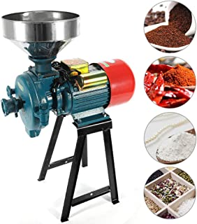 SLSY Heavy Duty 3000W 110V Electric Grain Mill Grinder, Dry Cereals Rice Coffee Wheat Corn Mills Commercial Grain Grinder ...