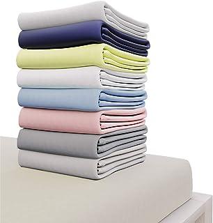 Dreamzie - Drap Housse 140x190 cm - 100% Coton Jersey Certifié Oeko-TEX® - Beige - pour Matelas 140 x 190 x 22 cm avec Gra...