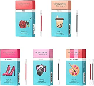 Tattoo Lipstick katoenen wattenstaafje, duurzame waterdichte vloeibare anti-stick lippenstift, vloeibare lippenstift voor ...